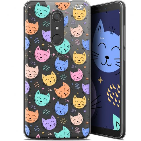 """Extra Slim Gel Wiko View XL (5.99"""") Case Design Chat Dormant"""