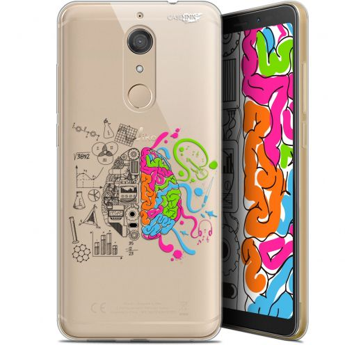 "Extra Slim Gel Wiko View XL (5.99"") Case Design Le Cerveau"