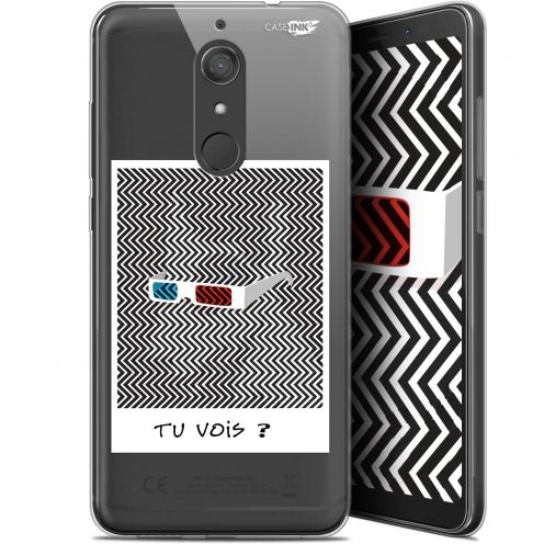"Extra Slim Gel Wiko View XL (5.99"") Case Design Tu Vois ce que Je Vois ?"