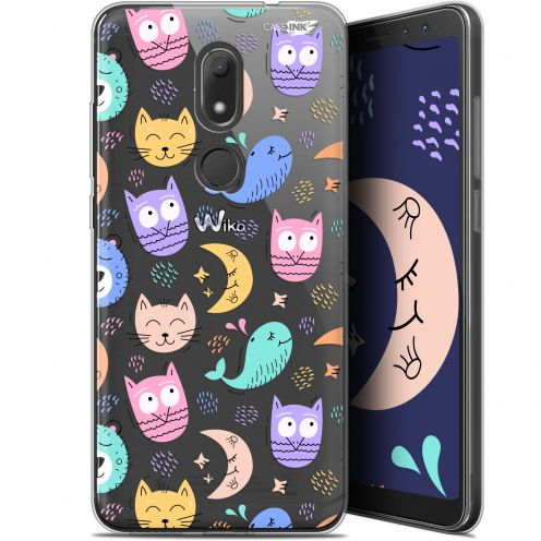 """Extra Slim Gel Wiko View PRIME (5.7"""") Case Design Chat Hibou"""