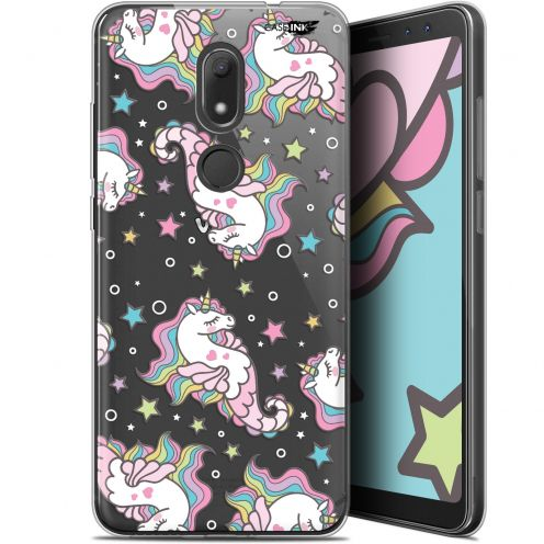 "Extra Slim Gel Wiko View PRIME (5.7"") Case Design Licorne Dormante"
