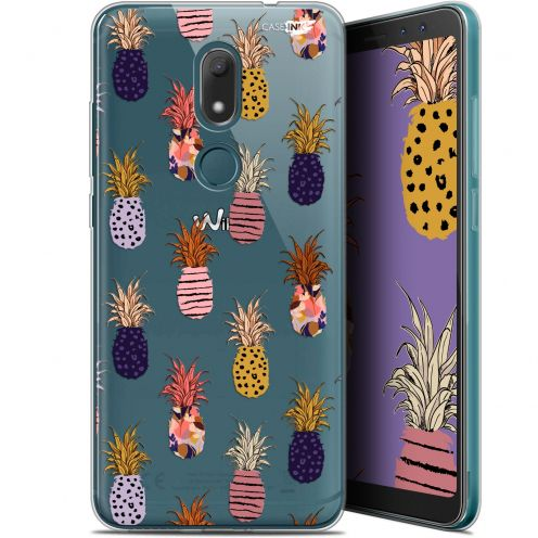 "Extra Slim Gel Wiko View PRIME (5.7"") Case Design Ananas Gold"