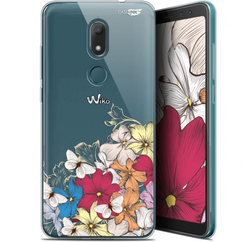 "Extra Slim Gel Wiko View PRIME (5.7"") Case Design Nuage Floral"
