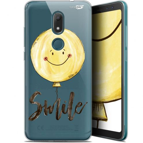 "Extra Slim Gel Wiko View PRIME (5.7"") Case Design Smile Baloon"