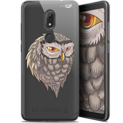 "Extra Slim Gel Wiko View PRIME (5.7"") Case Design Hibou Draw"