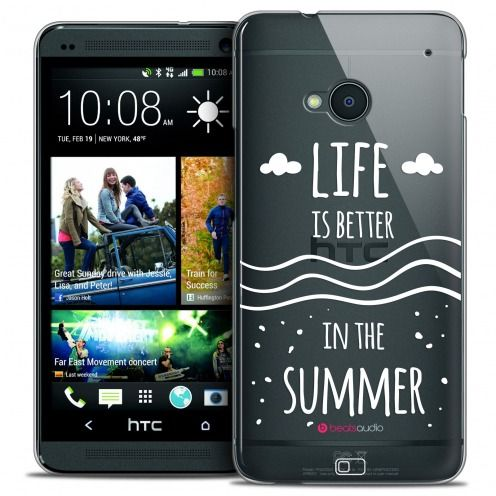 Extra Slim Crystal HTC One (M7) Case Summer Life's Better