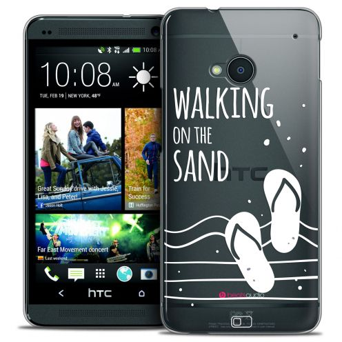 Extra Slim Crystal HTC One (M7) Case Summer Walking on the Sand