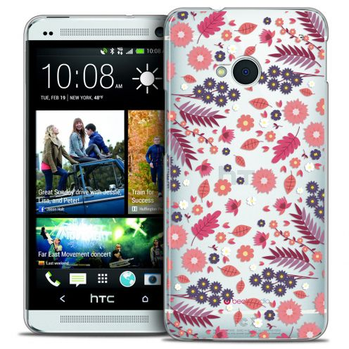 Extra Slim Crystal HTC One (M7) Case Spring Floraison
