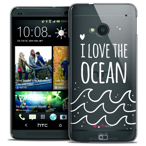 Extra Slim Crystal HTC One (M7) Case Summer I Love Ocean