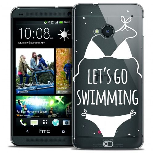 Extra Slim Crystal HTC One (M7) Case Summer Let's Go Swim