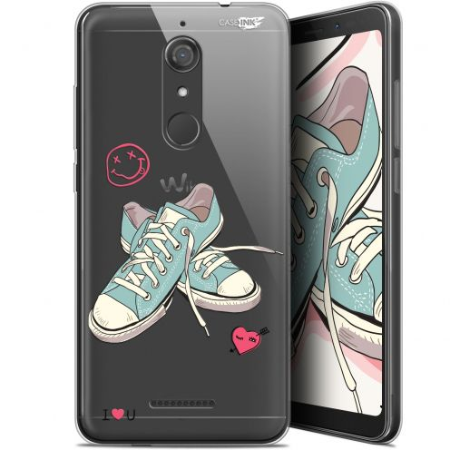 """Extra Slim Gel Wiko View (5.7"""") Case Design Mes Sneakers d'Amour"""