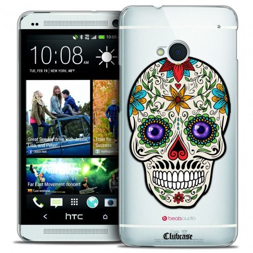Extra Slim Crystal HTC One (M7) Case Skull Maria's Flower