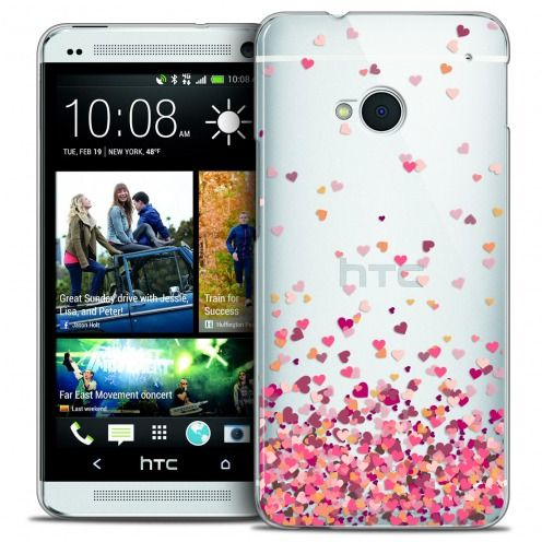 Extra Slim Crystal HTC One (M7) Case Sweetie Heart Flakes