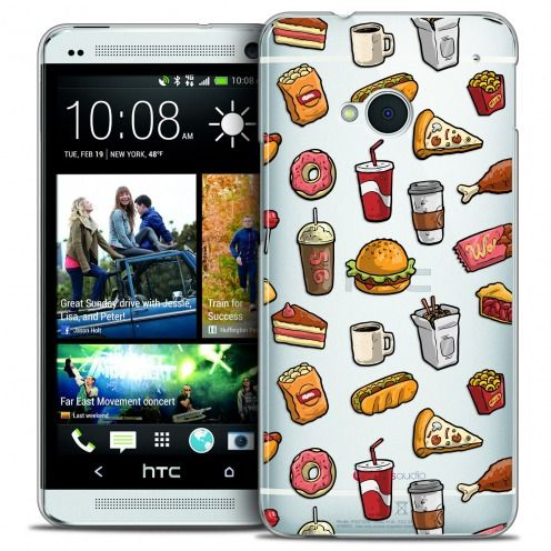 Extra Slim Crystal HTC One (M7) Case Foodie Fast Food