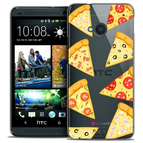 Extra Slim Crystal HTC One (M7) Case Foodie Pizza
