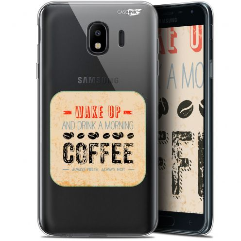 "Extra Slim Gel Samsung Galaxy J4 2018 J400 (5.7"") Case Design Wake Up With Coffee"