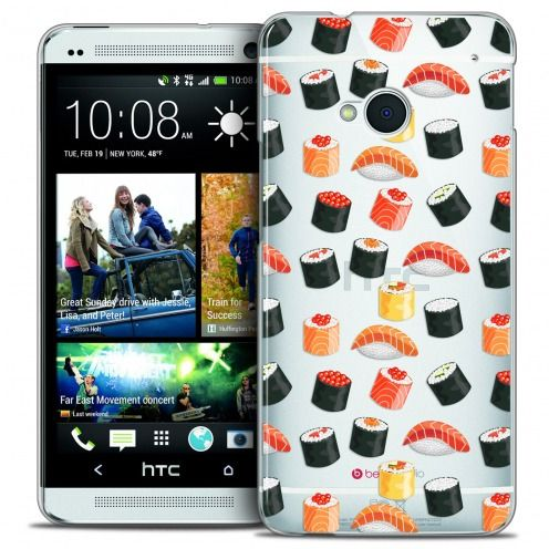 Extra Slim Crystal HTC One (M7) Case Foodie Sushi