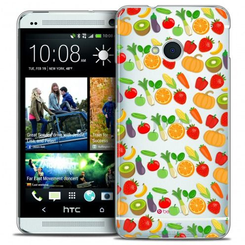 Extra Slim Crystal HTC One (M7) Case Foodie Healthy