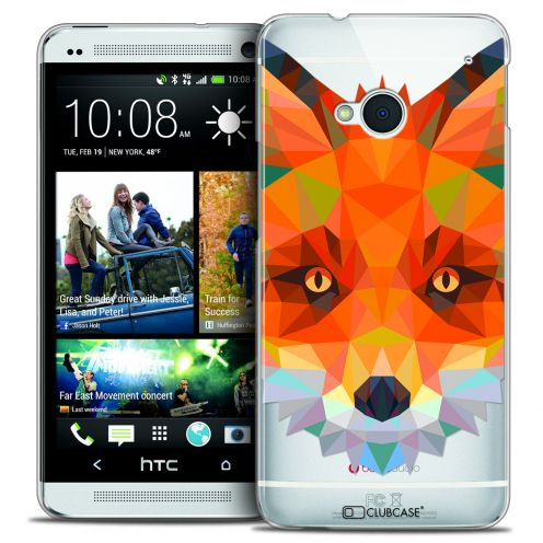 Extra Slim Crystal HTC One (M7) Case Polygon Animals Fox