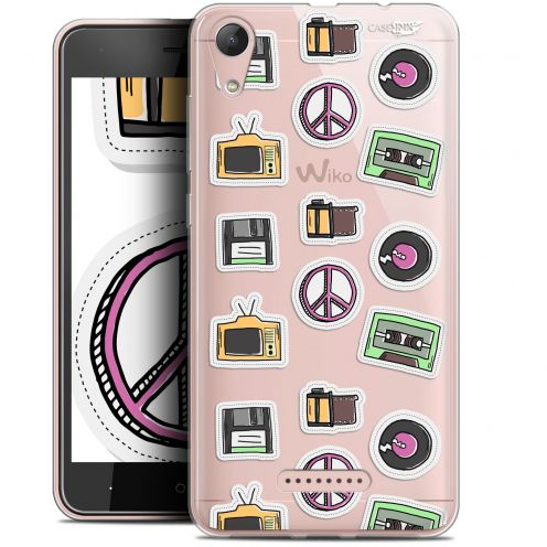 "Extra Slim Gel Wiko Lenny 4 (5"") Case Design Vintage Stickers"