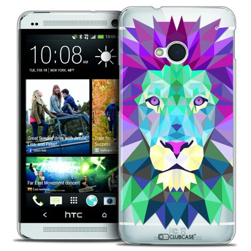 Extra Slim Crystal HTC One (M7) Case Polygon Animals Lion