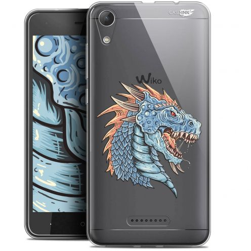 "Extra Slim Gel Wiko Lenny 4 (5"") Case Design Dragon Draw"