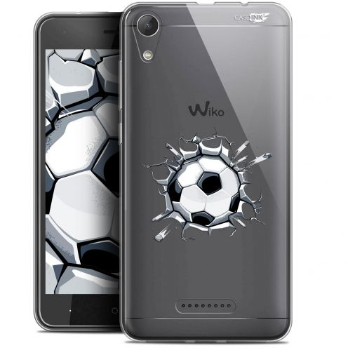 "Extra Slim Gel Wiko Lenny 4 (5"") Case Design Le Balon de Foot"
