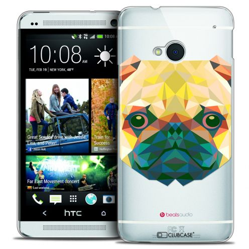 Extra Slim Crystal HTC One (M7) Case Polygon Animals Dog