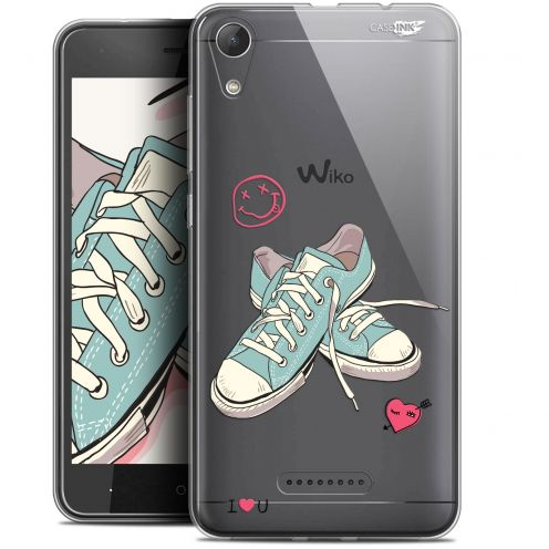 """Extra Slim Gel Wiko Lenny 4 (5"""") Case Design Mes Sneakers d'Amour"""