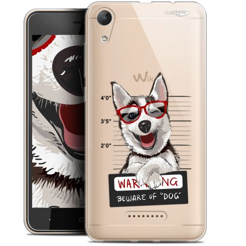 "Extra Slim Gel Wiko Lenny 4 (5"") Case Design Beware The Husky Dog"