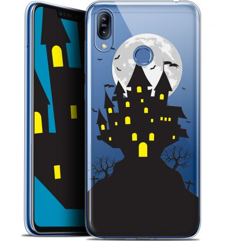 "Extra Slim Gel Asus Zenfone Max (M2) ZB633KL (6.3"") Case Halloween Castle Scream"