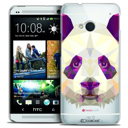 Extra Slim Crystal HTC One (M7) Case Polygon Animals Panda