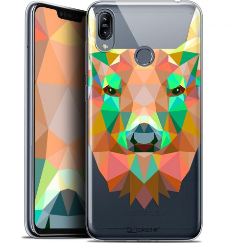 "Extra Slim Gel Asus Zenfone Max (M2) ZB633KL (6.3"") Case Polygon Animals Deer"
