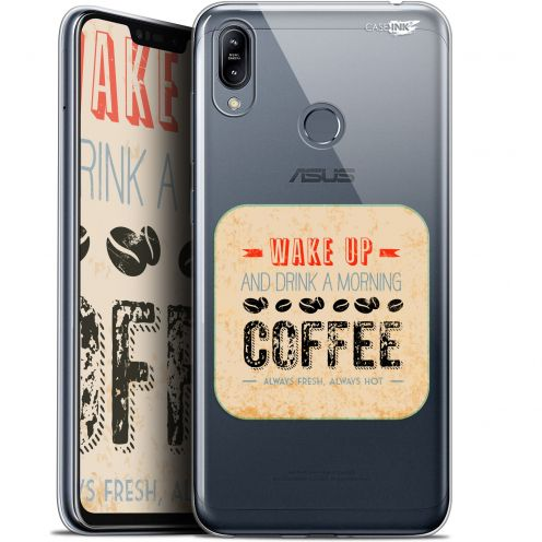 "Extra Slim Gel Asus Zenfone Max (M2) ZB633KL (6.3"") Case Design Wake Up With Coffee"