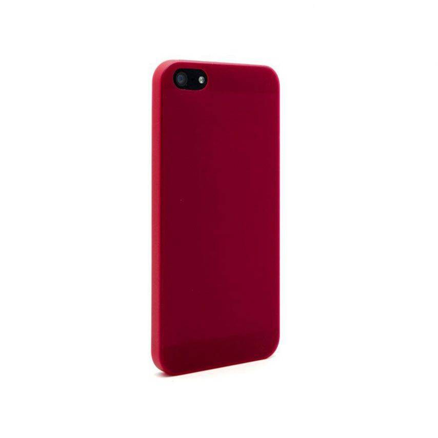 Ultra thin Case 0.3 mm Frost for iPhone 5 red