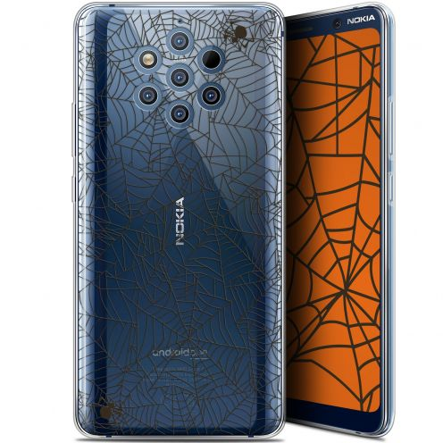 "Extra Slim Gel Nokia 9 PureView (6"") Case Halloween Spooky Spider"
