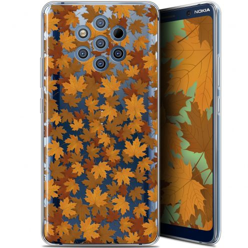 "Extra Slim Gel Nokia 9 PureView (6"") Case Autumn 16 Feuilles"