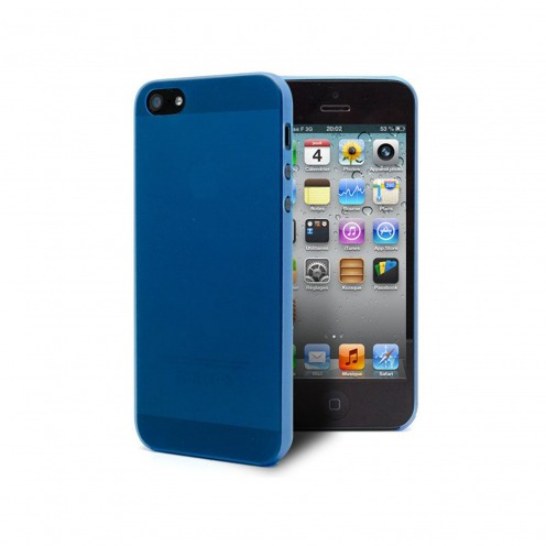 Ultra thin Case 0.3 mm Frost for iPhone 5 blue