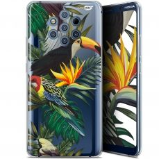 "Extra Slim Gel Nokia 9 PureView (6"") Case Design Toucan Tropical"
