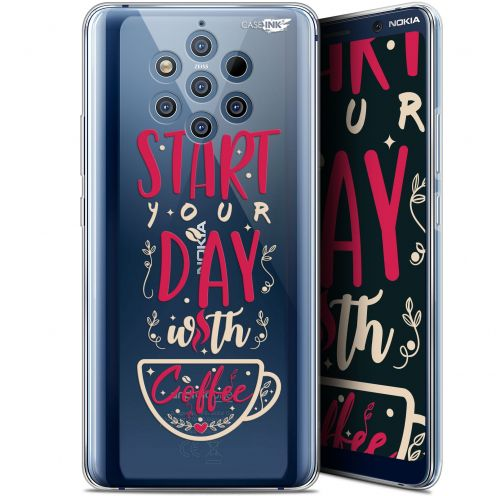 "Extra Slim Gel Nokia 9 PureView (6"") Case Design Start With Coffee"