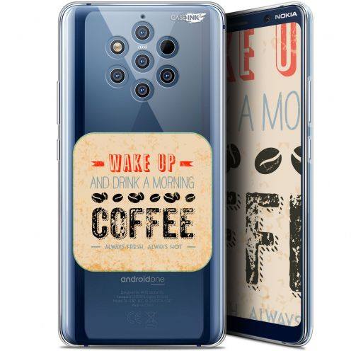"Extra Slim Gel Nokia 9 PureView (6"") Case Design Wake Up With Coffee"