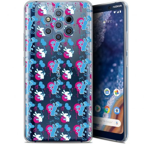 """Gel Nokia 9 PureView (6"""") Case Lapins Crétins™ Rugby Pattern"""