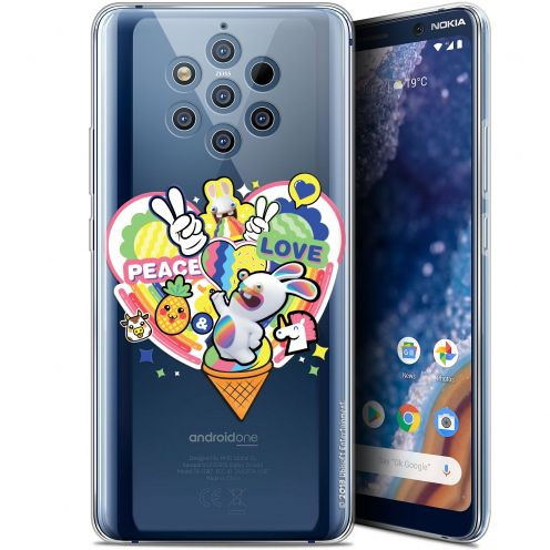 """Gel Nokia 9 PureView (6"""") Case Lapins Crétins™ Peace And Love"""