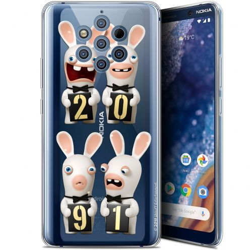 """Gel Nokia 9 PureView (6"""") Case Lapins Crétins™ New Year"""