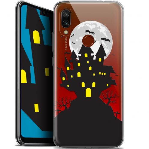 "Extra Slim Gel Xiaomi Redmi 7 (6.26"") Case Halloween Castle Scream"