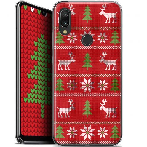 "Extra Slim Gel Xiaomi Redmi 7 (6.26"") Case Noël 2017 Couture Rouge"