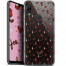"Extra Slim Gel Xiaomi Redmi 7 (6.26"") Case Love Bougies et Roses"