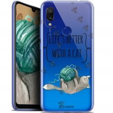 "Extra Slim Gel Xiaomi Redmi 7 (6.26"") Case Quote Life's Better With a Cat"