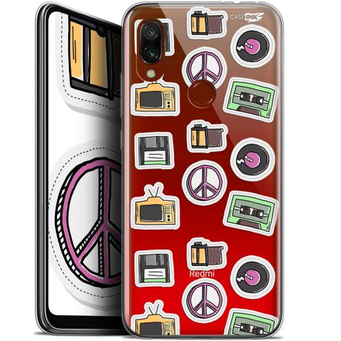 "Extra Slim Gel Xiaomi Redmi 7 (6.26"") Case Design Vintage Stickers"