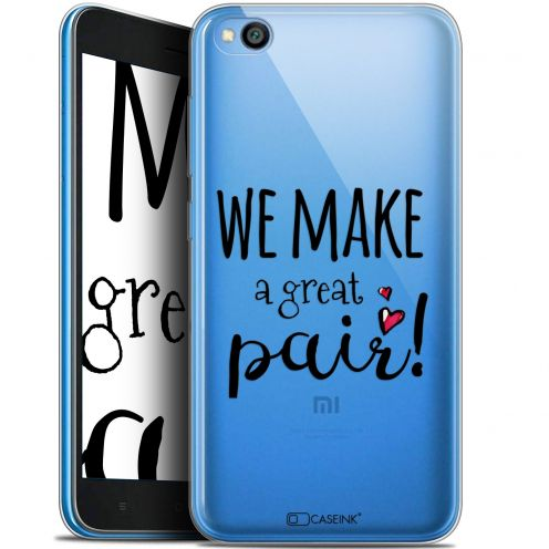 "Extra Slim Gel Xiaomi Redmi Go (5"") Case Love We Make Great Pair"